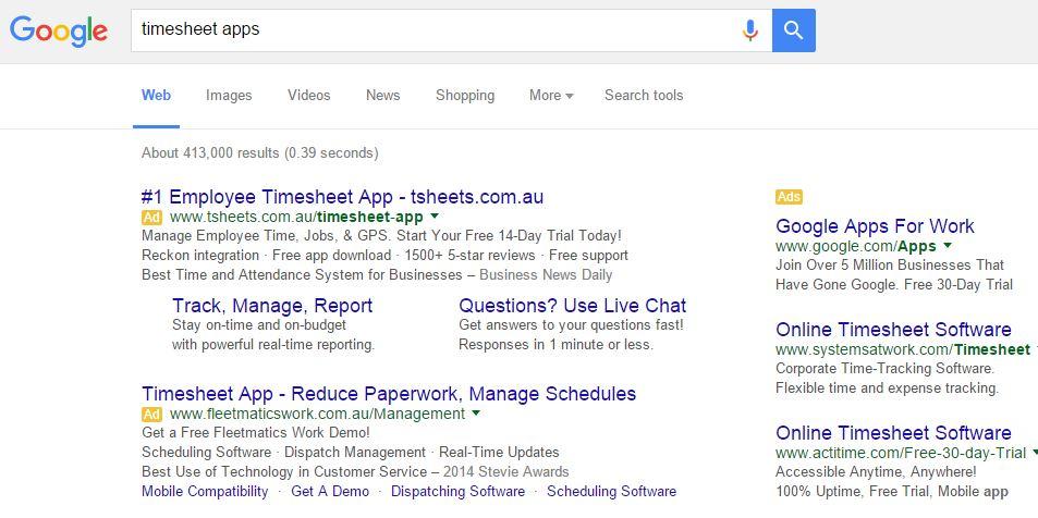 timesheet google